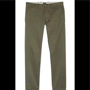 J. Crew 484 Slim Fit Cotton Chinos Pants Green